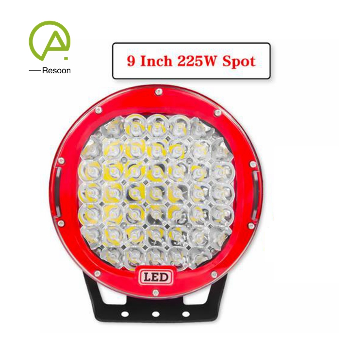9 inch 225W 10-32V DC Spot Work Light Led for 4WD 4x4 Truck Trailer SUV Offroad Boat ATV etc