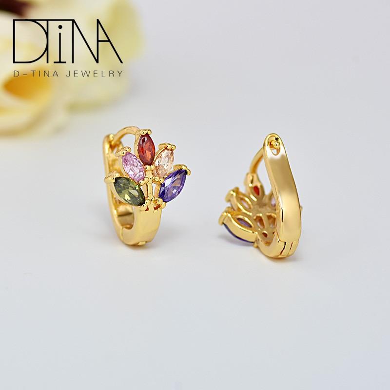 Cheap Cubic Zirconia Jewelry Women Wedding Gold Earring Latest ...