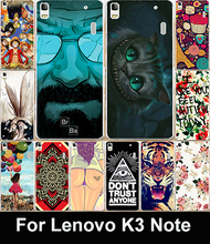 22 Styles Cute Cartoon Painted For Lenovo K3 Note Case Lenovo A7000  Mobile Phone Case Back Cover Protective Case Lenovo K3 Note