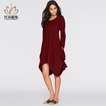 China Supply Semi Formal Burgundy Dress With Sleeves Buy Woman