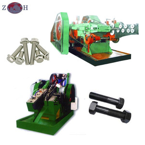 Nut bolt making machine with cold heading machine and tapping machine