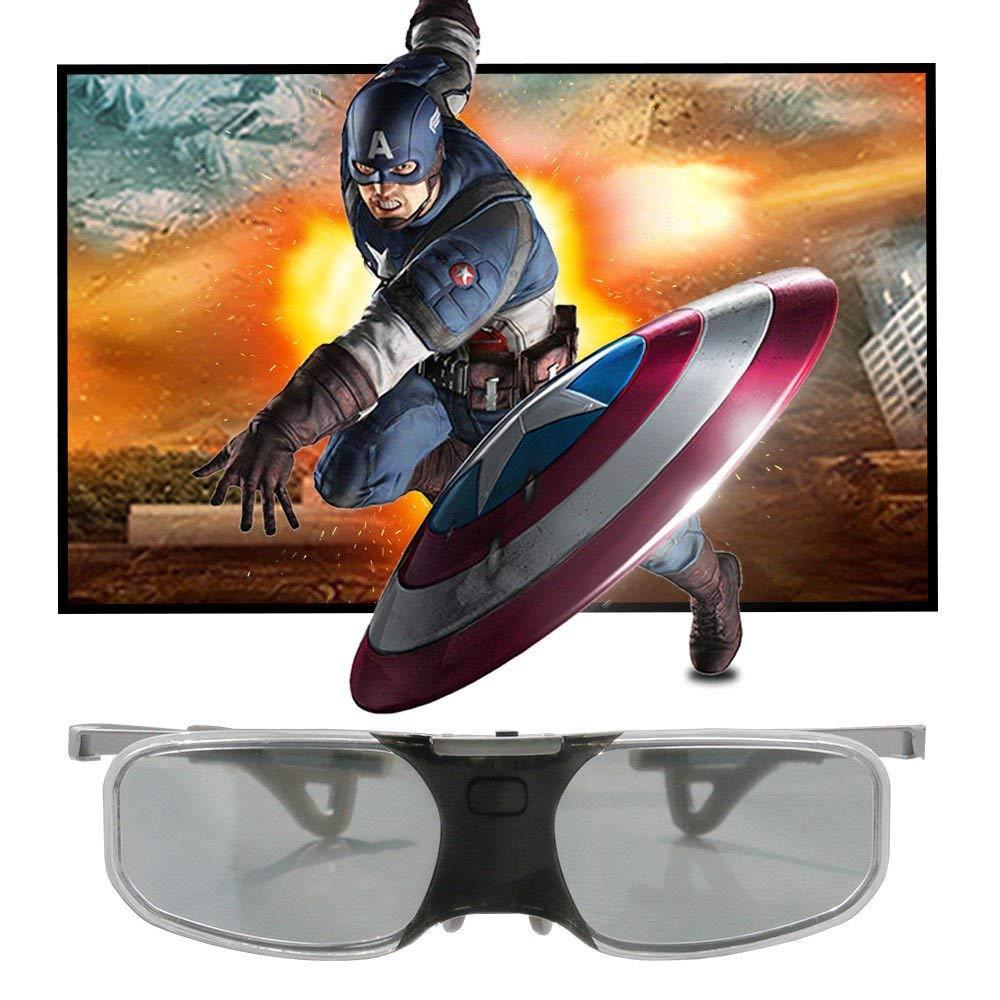 FidgetFidget 3D Active Shutter Glasses Bluetooth Universal for Epson 3D TV USB Rechargeable