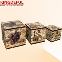 Animal deisgn fancy wooden storage boxes and bins