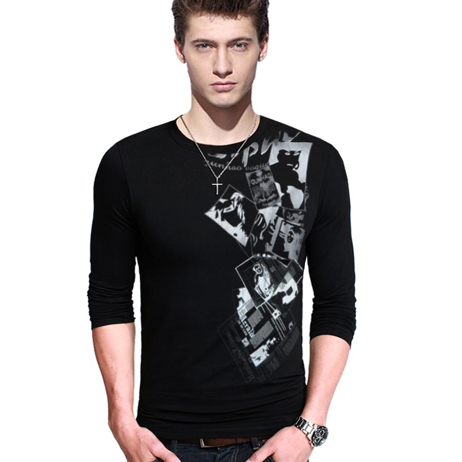 Men Stylish T Shirt Casual Basic Tee Fashion Top Men's ...