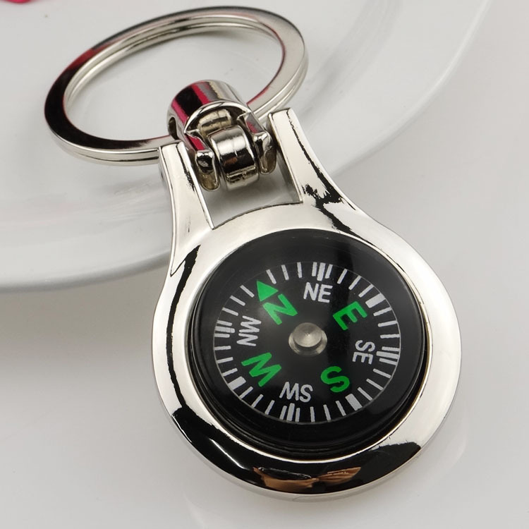 N389 The activities of the compass key, metal key chain, creative key chain