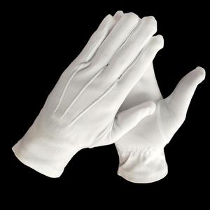 white nylon polyamides three stripes custom police gloves Traffic