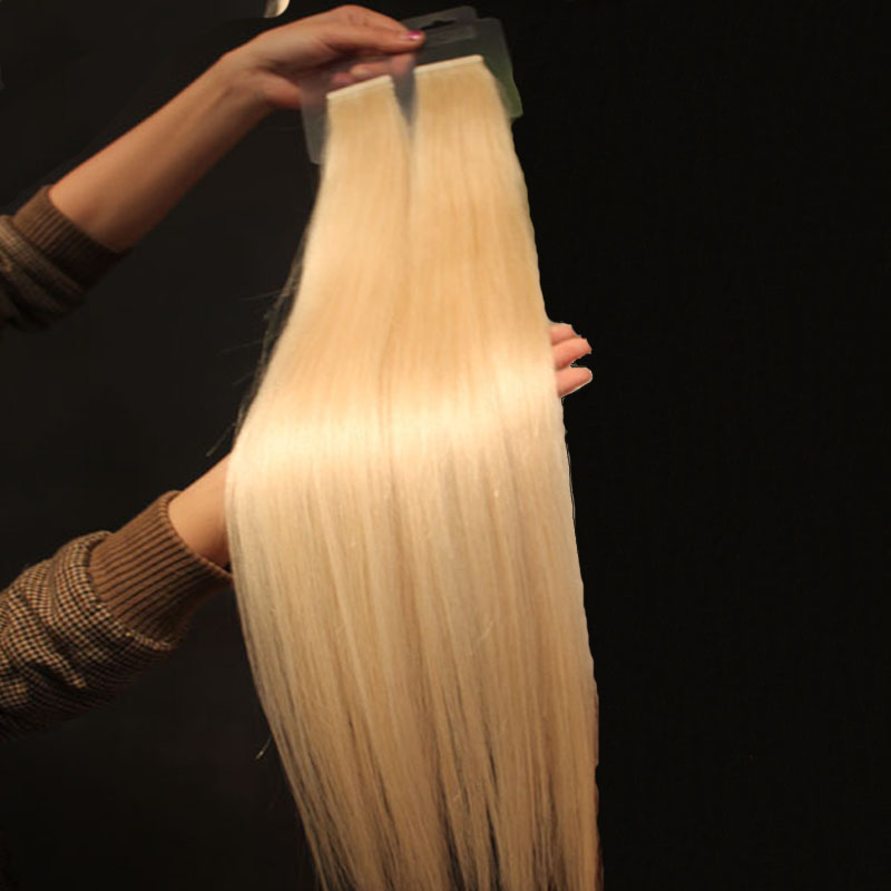 Virgin Remy Braziliaanse Dubbelzijdige PU Double Drawn Tape Hair Extensions