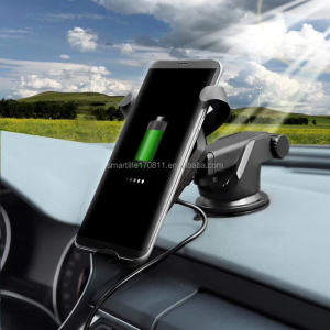 magnetic car holder wireless charger for iphone X Samsung LG Nokia mobile phones