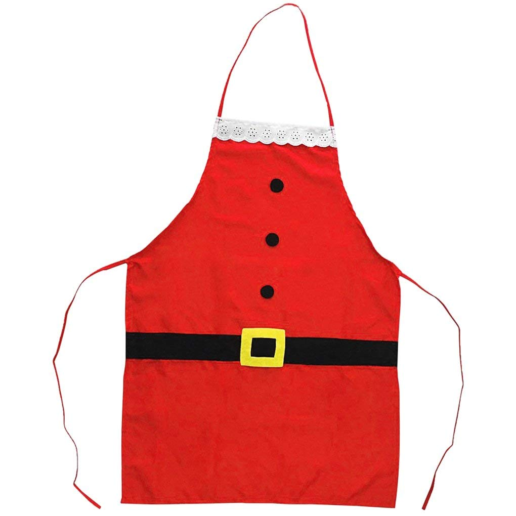 "Starsouce Christmas Santa Claus Apron Funny Kitchen Cooking Baking Grilling Chef Apron Christmas Kids Dinner Party Home Bar Cafe Resturant Apron Xmas Costume Novelty Decoration Gifts, 27.6"" x 19.7"""