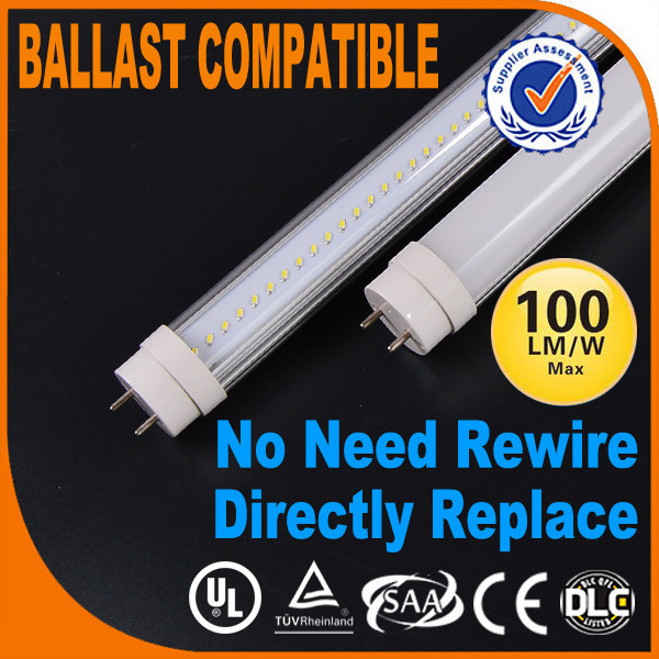 IP20 led lights tube t8 Isolation driver no UV light emitted,infrared radiation or CO2 emissions