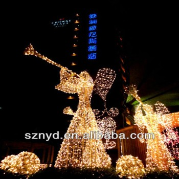 christmas light 3d led lighted angel outdoor christmas decorations - Lighted Angel Outdoor Christmas Decorations