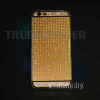 Luxury for iphone 6 24kt gold housing with diamond