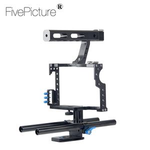 DSLR Rod Rig Camera Video Cage Kit & Handle Grip for Sony A7 A7r A7s II A6300 A6000 For Panasonic GH4