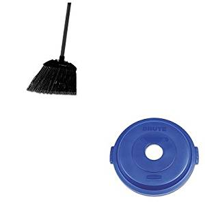 KITRCP1788376RCP637400BLA - Value Kit - Rubbermaid Bottle/Can Recycling Top for Brute 32gal Containers (RCP1788376) and Rubbermaid-Black Brute Angled Lobby Broom (RCP637400BLA)