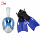 180 Degree Professional Full Face Panoramic Snorkel Mask Set Go Pro