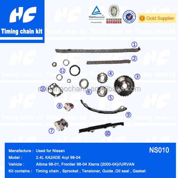Timing chain kit used for nissan frontier