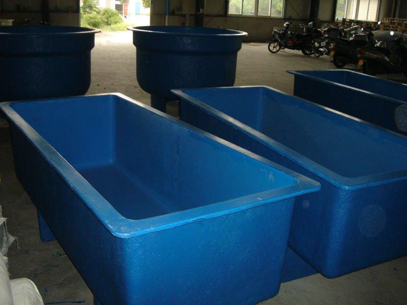 Fiberglass round tanks rectangular fish tanks buy for Rectangle fish tank