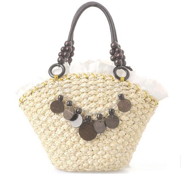 Women Designer Handbags High Quality 2017 Summer Bags Straw Bag Woven Beach Beading
