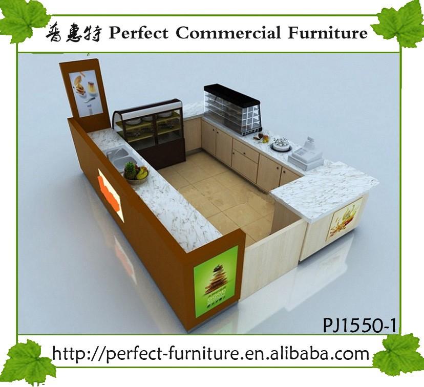Wood beverage indoor juice bar kiosk design for sale buy for Indoor food kiosk design