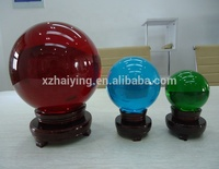 Large Clear transparent acrylic crystal ball colorful clear transparent crystal glass decoration ornament ball