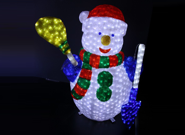 Hot Selling Indoor / Outdoor Acrylic Motif Led 3d Snowman Led ...