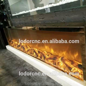YN-2000 golden color luxurious fireplaces with led fireplace lights