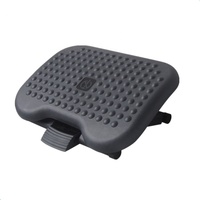Plastic Adjustable Ergonomic Design Footrest Foot Rest