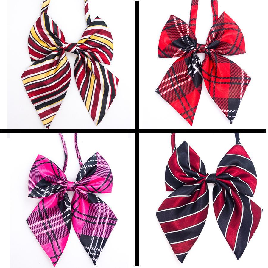 Мода регулируемая горячая повелительницы сексуальные женщины галстук-бабочку большой бантом галстук-бабочка школы девушка подарки ну вечеринку регулируемая галстук-бабочку 4 цветов