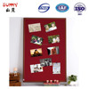 Factory price wooden frame red notice cork board