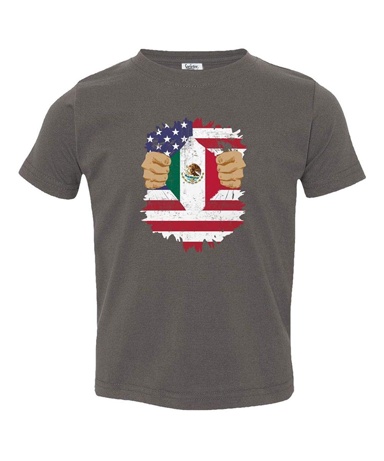 Societee Mexican American USA Mexico Pride Flag Youth & Toddler Tee Shirt