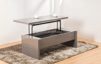 Modern Lift Top Coffee Table High Gloss Sofa Table Modern Appearance