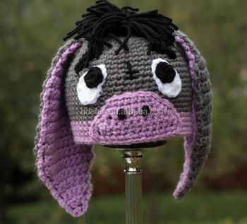 Handmade Häkeln Esel Hut Baby Mädchen Hut Mädchen Häkeln Tier Hut