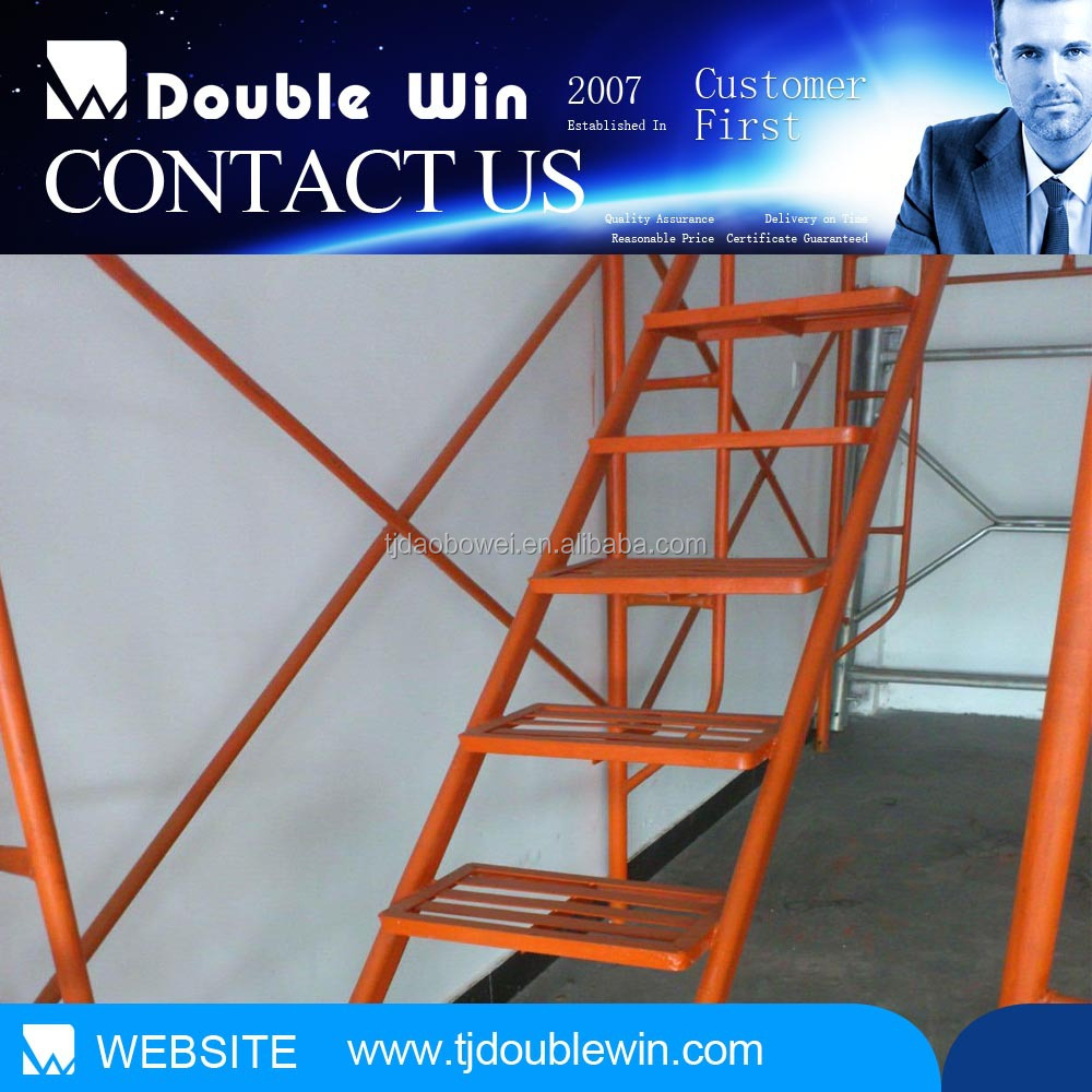 Powder Coated ANSI Walk Through Mason and Ladder Type of Pipe Steel Frame Scaffolding System