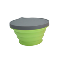 new products portable picnic bowl baby food container foldable silicone bowl with lid