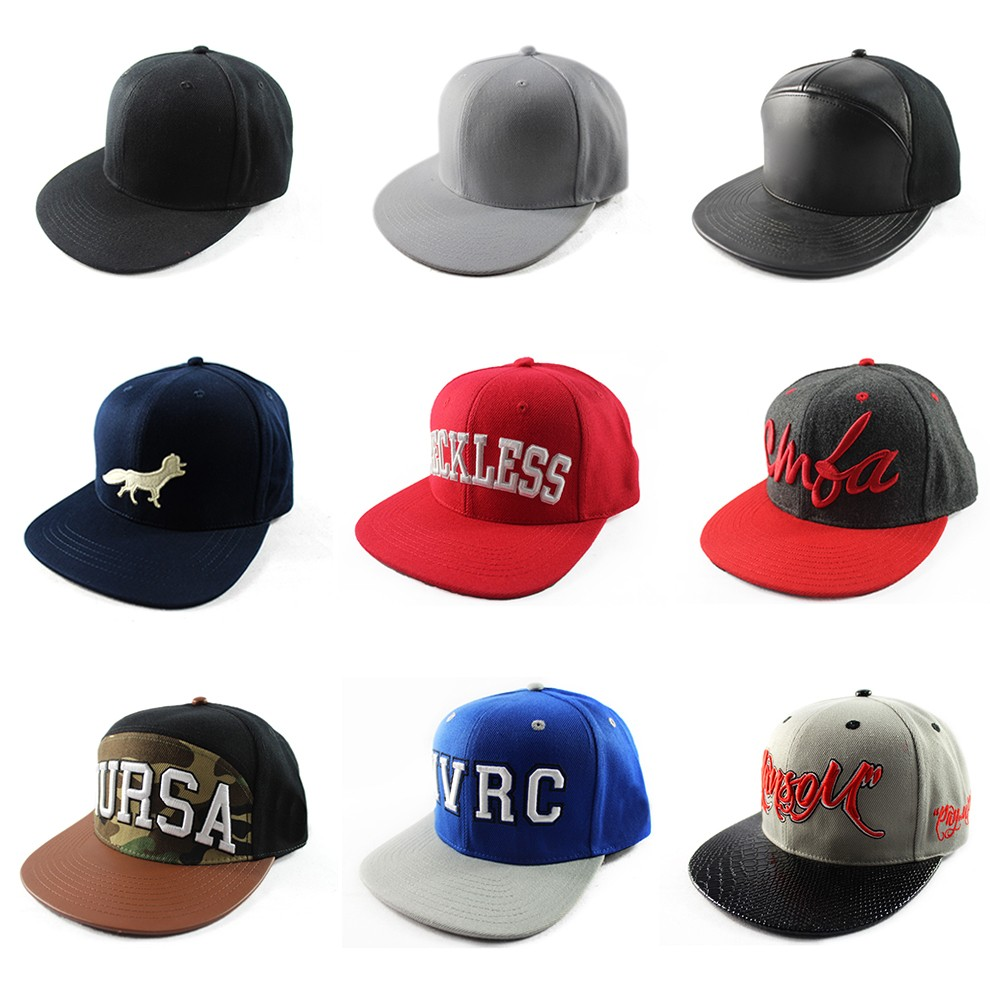 cool plain customize snapback hats flat bill hip hop cap