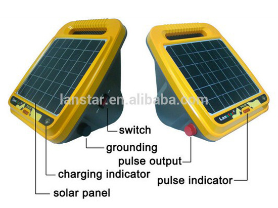8KM 0.3J Solar Power Electric Fence Energizer Charger with Adjustable Solar Panel