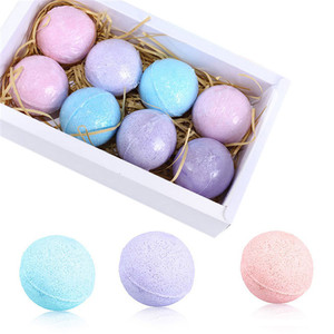 8Pcs/Set Bathroom Bath Bombs Ball Bath Salts Aromatherapy Type Body Cleaner SPA Stress Relief Handmade Bathing Salt Balls