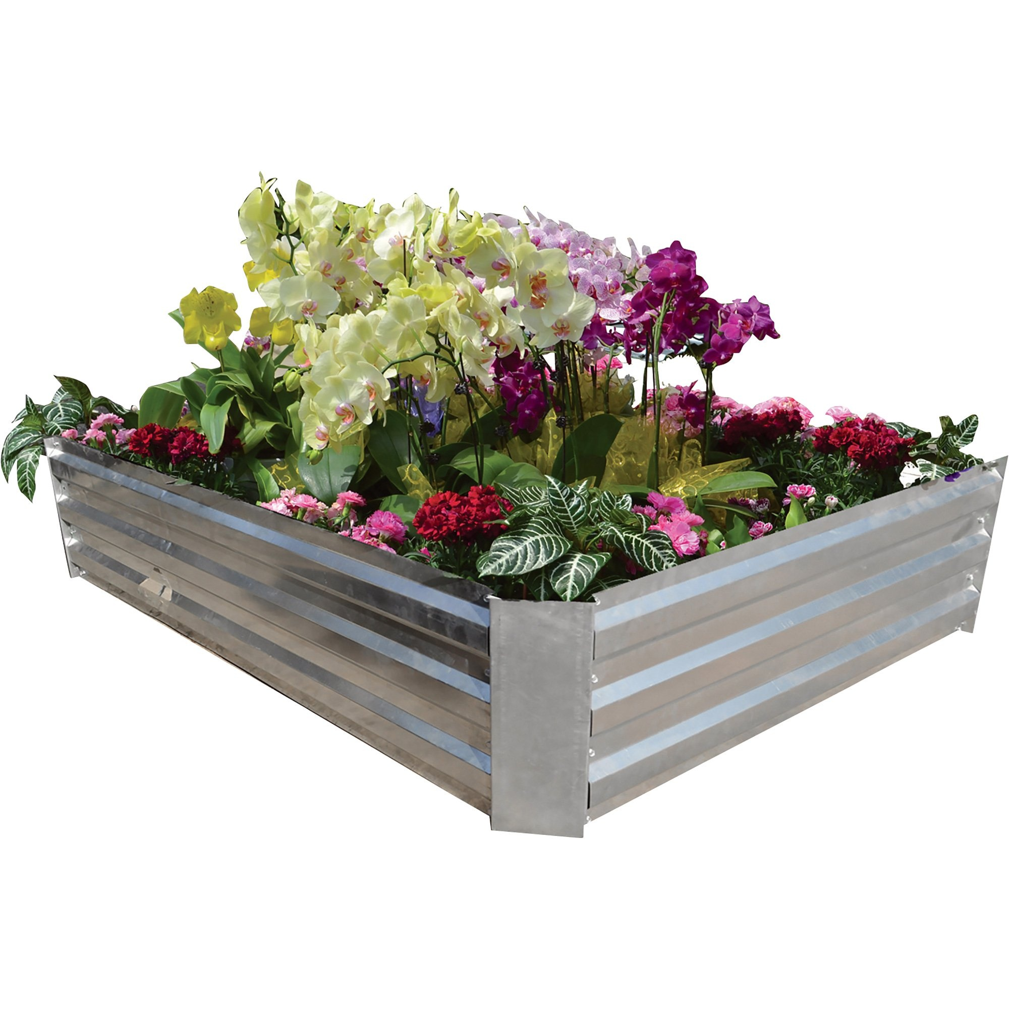 Pentagon Metal Galvanized Flower Planter Vegetable Plant Box Garden Bed