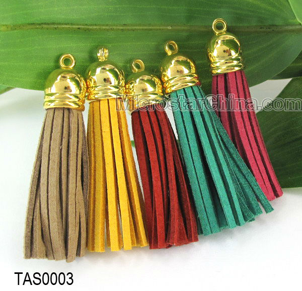 60mm Suede Leather Tassel For Necklace