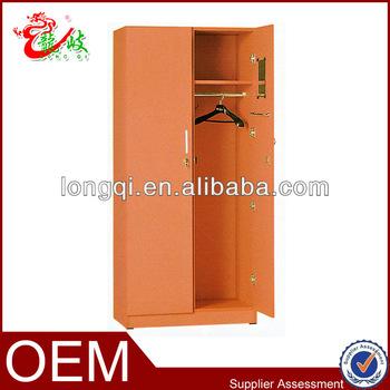 Hot Sale 2 Door Modern Wooden Bedroom Closet Wardrobe Clothes