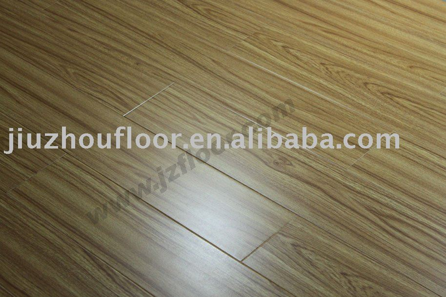 8mm v-groove indoor decoracion en relieve parquet laminado ac4
