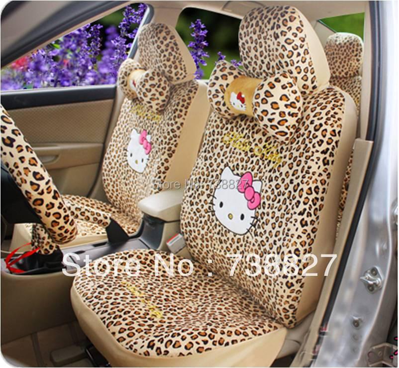 Car seat fedex or tnt price18pcs a set leopoard hello - Hello kitty car interior accessories ...