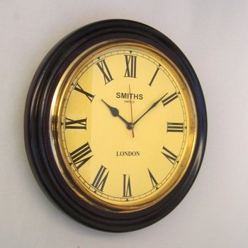 Wooden Wall Clock Antique Style Modern Decorative