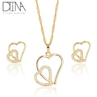 DTINA Wedding Costume Jewelry Necklace And Earring Matching Jewellery Sets