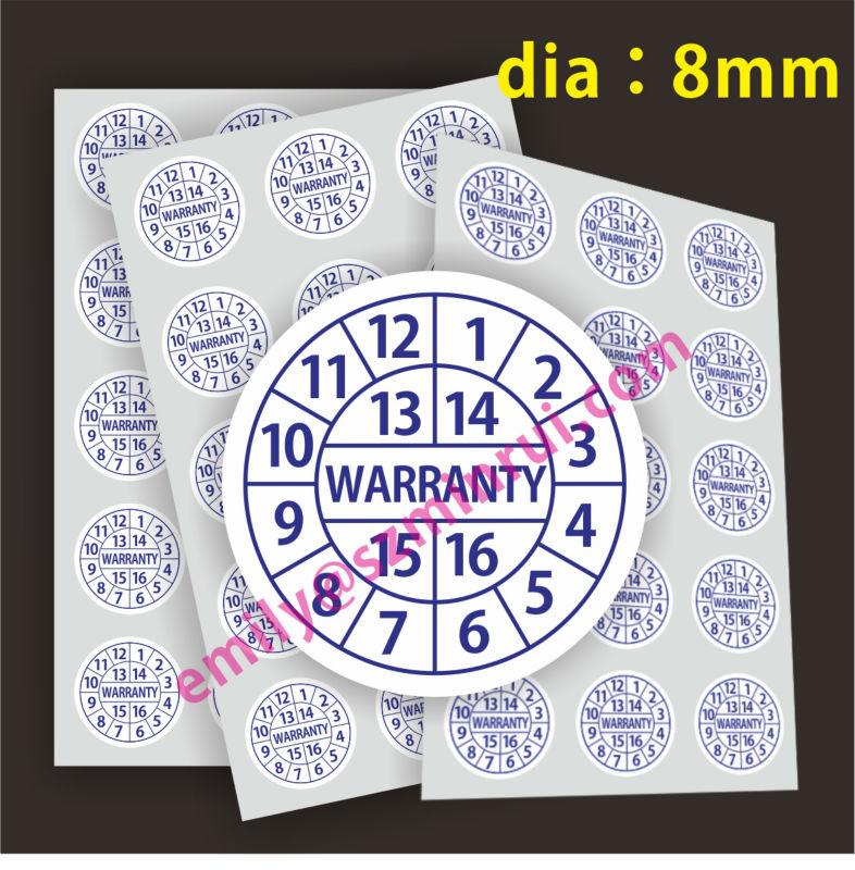 Custom Azul Dia 8mm Ronda Etiquetas De Garantía,Teléfono Celular ...