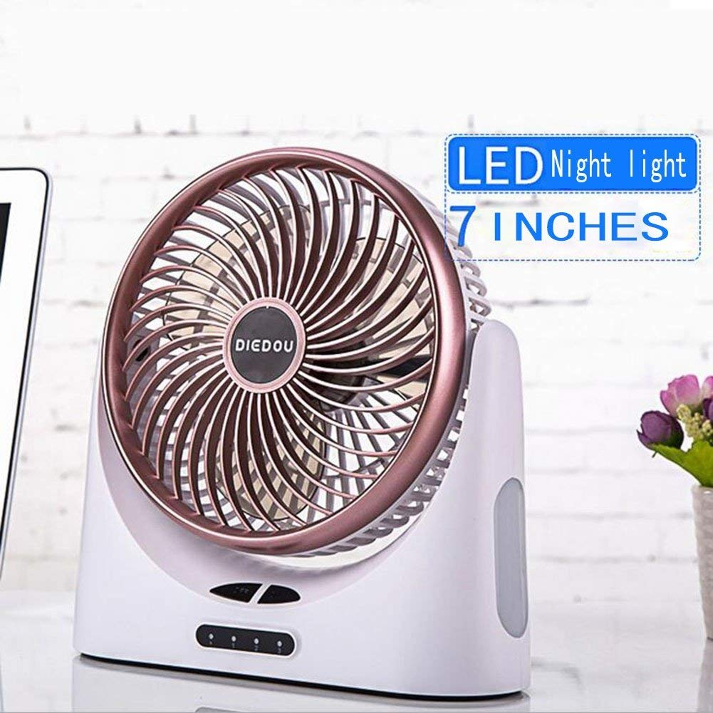 FJY Mini USB Personal Table Desk fan,Air Circulator Fan,Large Capacity 4000mA Rechargeable Battery, Perfect Small Personal Fan for Table & Outdoor