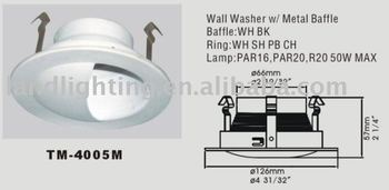 6 Inch Wall Washer Spotlight Trim/led Wall Washer Light Fixture ...