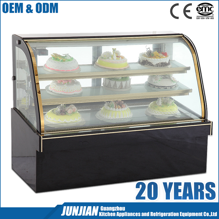 Refrigerated Display Case Of Cakes Cold Cake Display Cake Showcase