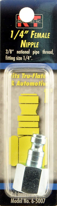 "K-T Industries 6-5007, Tru-Flate 3/8"" Female NPT 1/4"" Nipple"