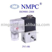3-way 3V1-06 Pneumatic Solenoid Valve/ control valve/ air,water,oil, gas/ 12V,24V DC or 110V,220V AC/ 1/8